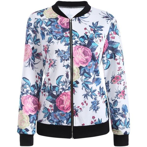 Vintage Floral Printed Bomber Jacket ($20) ❤ liked on Polyvore featuring outerwear, jackets, floral bomber jackets, style bomber jacket, vintage floral jacket, floral-print bomber jackets and flower print bomber jacket