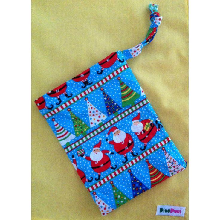 $4.25 15x20cm drawstring Christmas bags by DinoDust on Handmade Australia