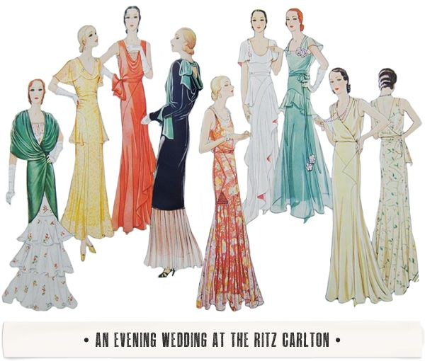 """""""An Evening Wedding at the Ritz Carlton (in the 1930s)"""" by Here's Lookin' at Me Kid."""