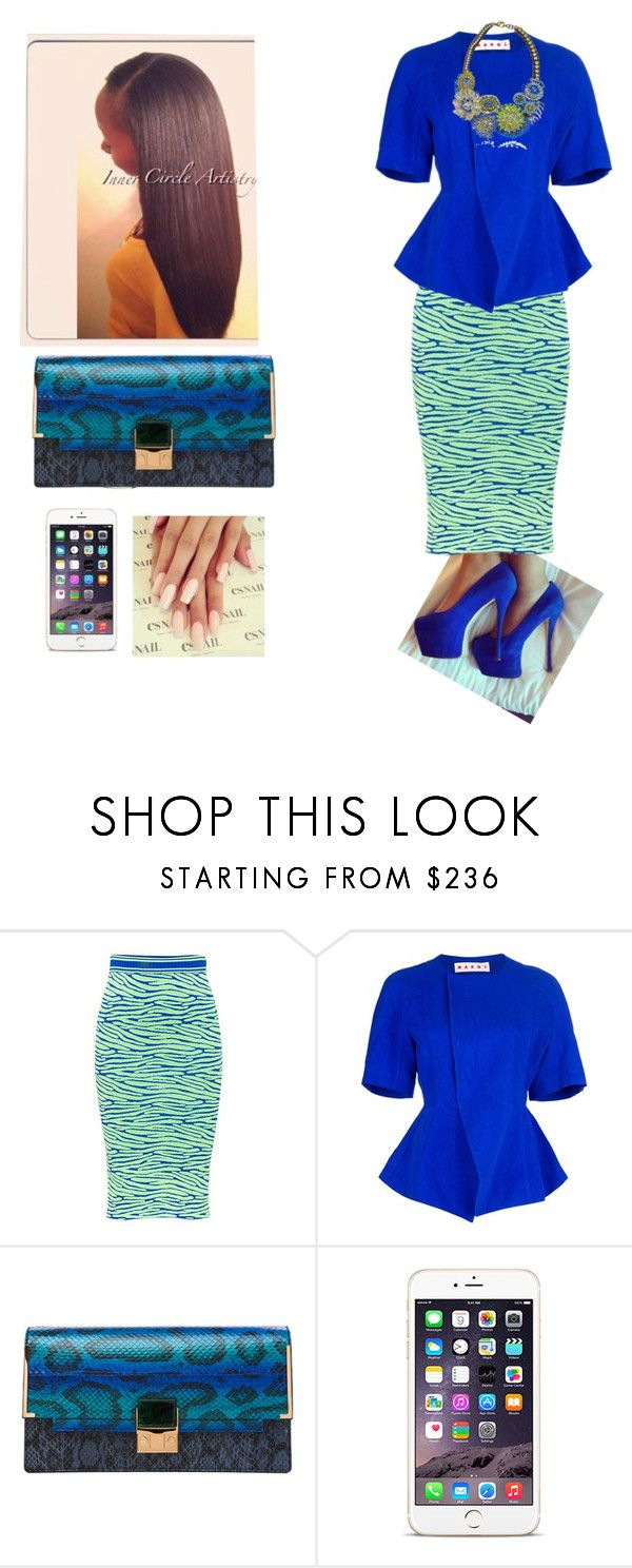 """""""State Meeting Night 2!!!"""" by cogic-fashion ❤ liked on Polyvore featuring House of Holland, Marni, Lanvin and Sveva"""