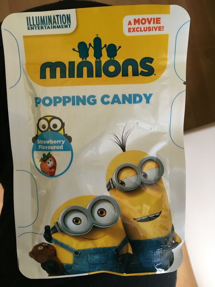 Minions popping candy