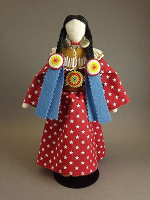 Doll - Northern Plains with Star Print Dress by Jhane Myers NoiseCat (Comanche)