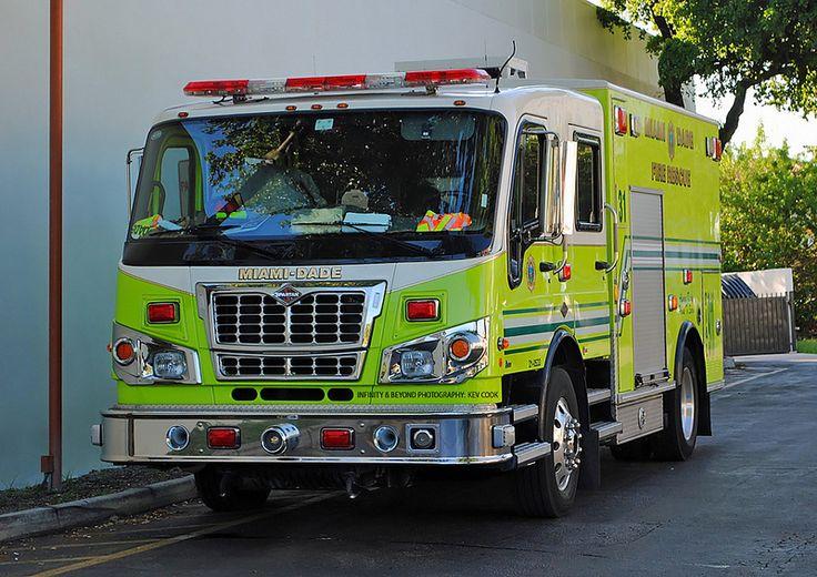 Miamidade fire rescue spartan truck fire rescue fire