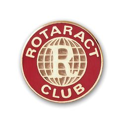 Russell-Hampton Co. Rotary Club Supplies: Gold Plated Rotaract Member Lapel Pin