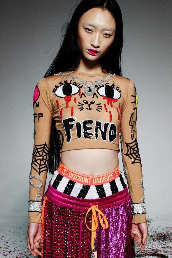 Image of HOME TATTOO SKIN LONG SLEEVE CROP '2014 RUNWAY COLLECTION'  shorts like this ah want some