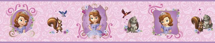 """Walt Disney Kids II Sofia and Friends 6"""" Border Wallpaper"""