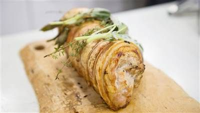 Tom Colicchio's sausage-stuffed porchetta is the perfect Easter centerpiece