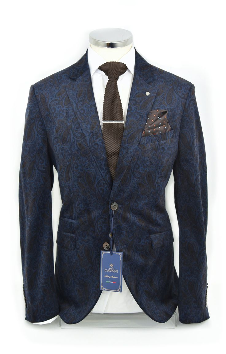 Enna: Navy Paisley Velvet Blazer Suit Republic.ie €119