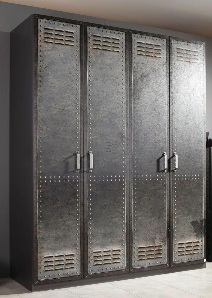 Popular Details zu Rauch Select Kleiderschrank Spind Workbase Vintage Breiten Dielenschrank