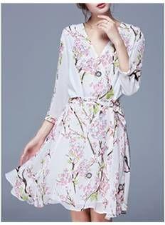 Pretty Floral Summer Day Dress - Code Women