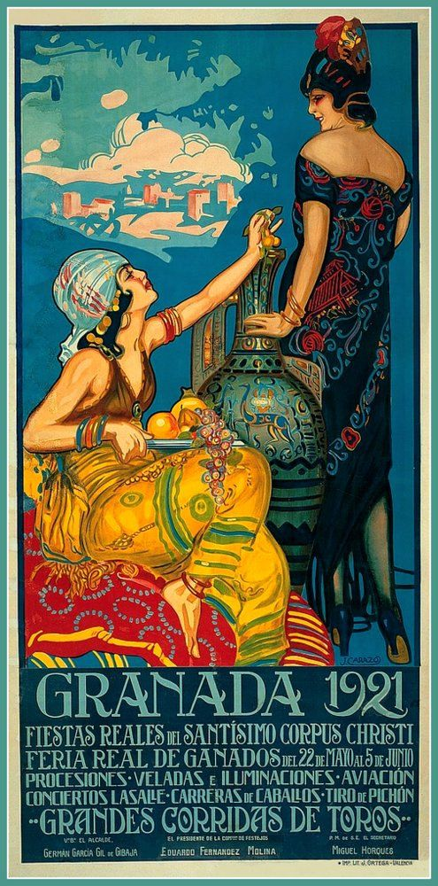 Spain Granada Corpus Christi 1921 Travel Poster  by BloominLuvly