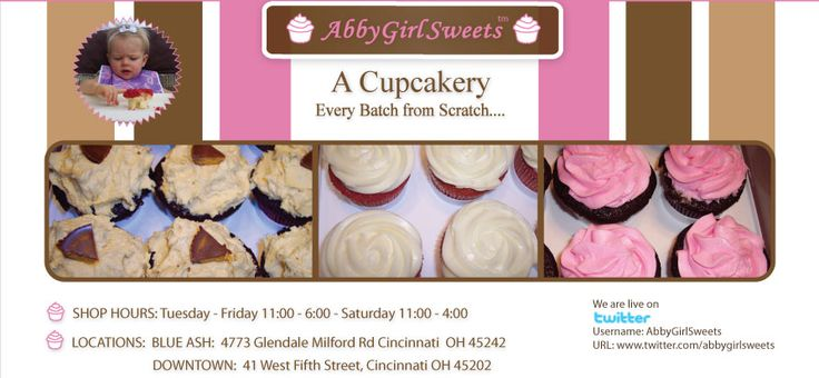 Abby Girl Sweets Cupcakery - Downtown Cincinnati Cupcakes - From Scratch Cupcakes