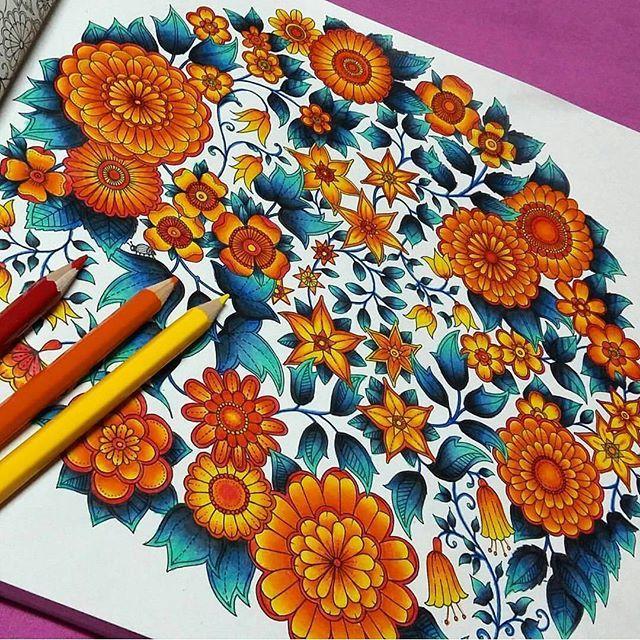 Instagram media livrojardimsecreto - Uauuuu ficou lindo! ☝  [ @numtarn_ntt]  _______________________________________Quer ter sua foto publicada aqui no nosso IG? ✔️ Use #livrojardimsecreto ✔️ Fale o material que foi usado para colorir. ✔ Siga @livrojardimsecreto e @desenhosparacolorir e fique por dentro de todas as novidades no mundo das cores.
