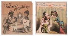 Vintage Metamorphosis Advertising Trade Cards Clothes Wringer Racist Dialect