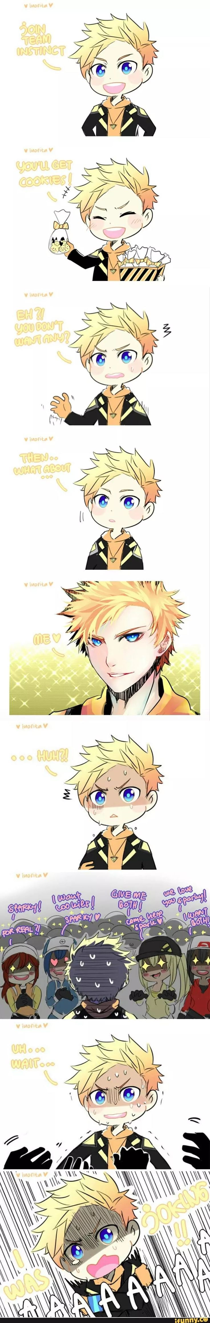 Spark we all want you~- *coughs* I-I mean uhh...l-let's just be friends and I'll have the cookies