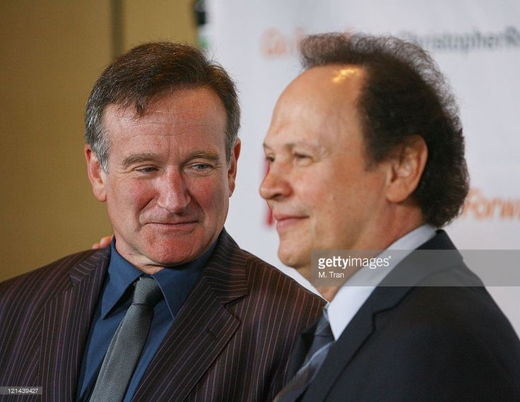 Robin Williams and Billy Crystal during 3rd Annual Los Angeles Gala for the Christopher and Dana Reeve Foundation at Century Plaza Hotel in Century City, California, United States.