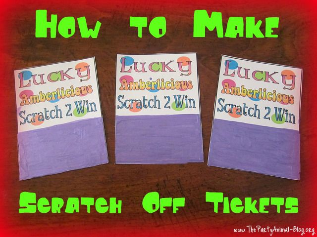17 Best ideas about Scratch Off Tickets on Pinterest | Couple ...