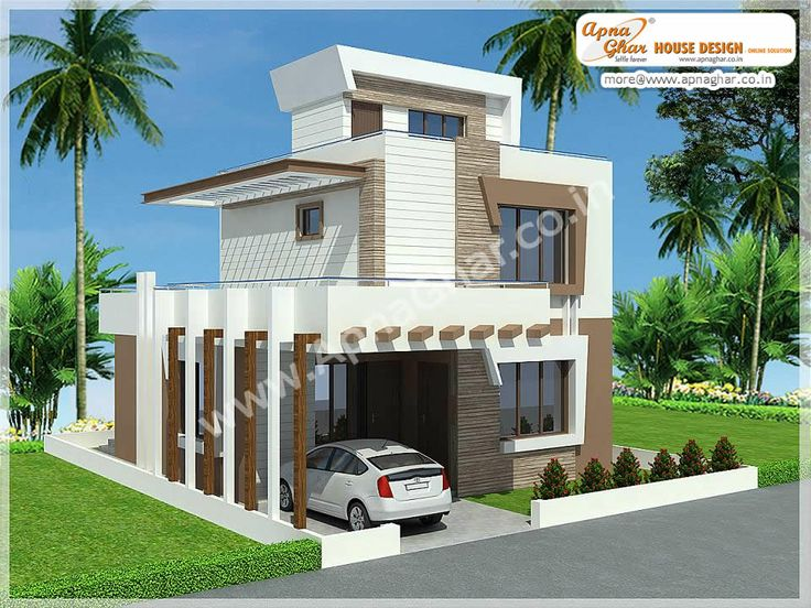 Simple modern independent floor design click on this link for Free indian duplex house plans