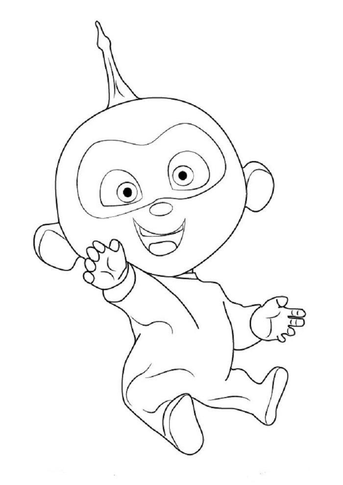 Incredibles Coloring Pages Jack Jack Easy Disney Drawings The Incredibles Drawings
