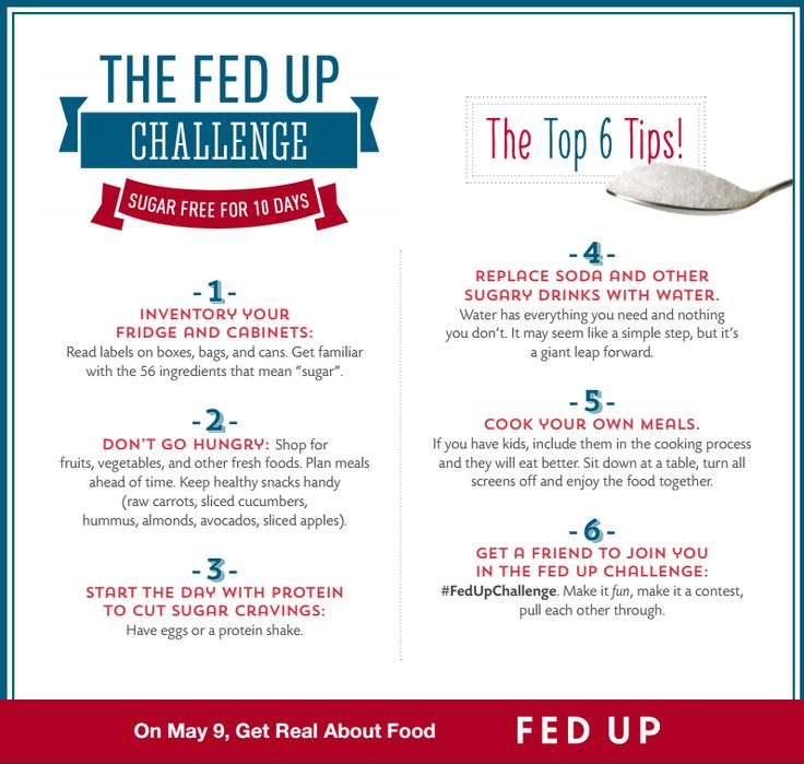 The #FedUpChallenge: Sugar-free for 10 Days. #infographic #health