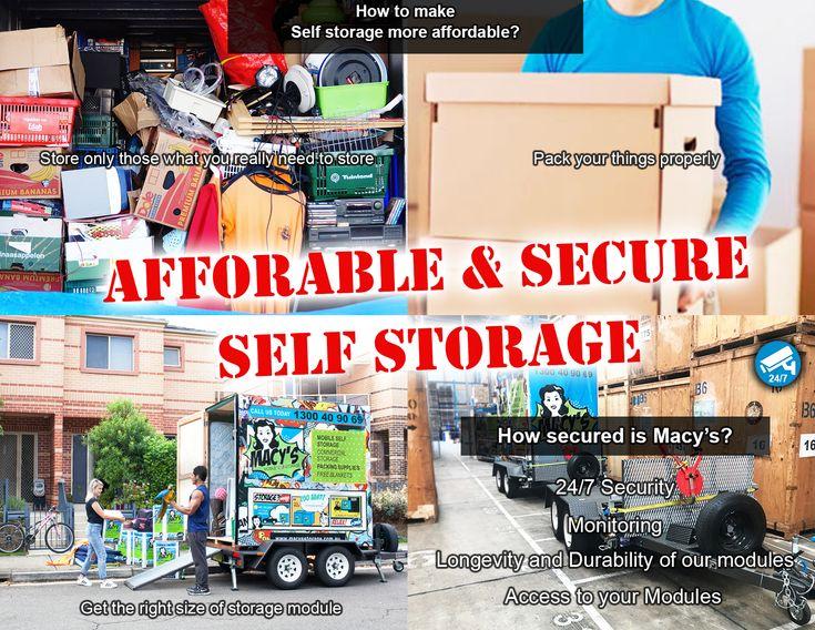 Making self storage more affordable