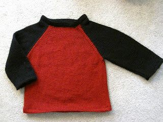 Free Knitting Pattern - Toddler & Children's Clothes: Baseball Tee Sweater