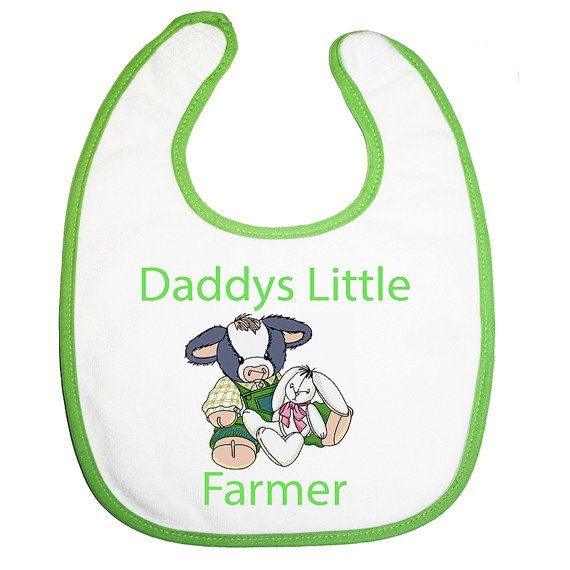 Baby bib Baby Cow Personalised Daddy Dad by BabysPreciousGifts