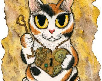 Giorno di Dead Cat arte messicana zucchero cranio di tigerpixie
