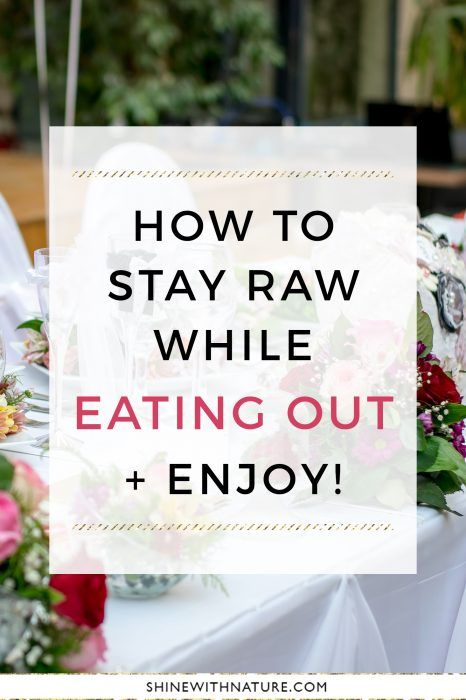 In most restaurants, they don't have a special raw vegan option, but with a little resourcefulness you can have a completely raw meal…