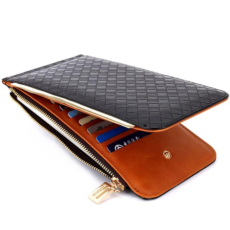 Leather Credit Card Holder Men Women Wallets Long ID Card Case Bank Purses Driver License Holder Wallet For Credit Cards