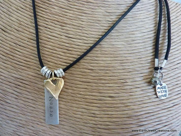 $50 - Tag with Rustic Heart Charm - Inspirational handmade gemstone jewellery Earth Jewel Creations Australia
