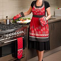 #Harumi  Avaible as Apron, Kitchen glove, pot holder, double glove and as a tablecloth, runner and placemats #kitchenaccessories