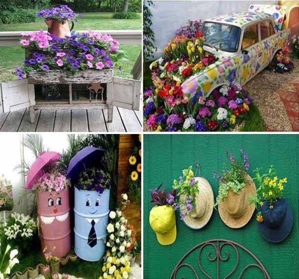Decoracion de jardines buscar con google ideas para el - Reciclaje jardineria y decoracion ...
