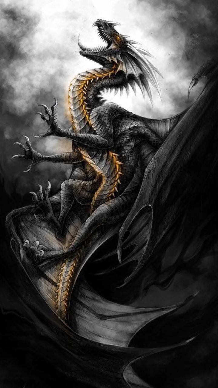 Download Black dragon Wallpaper by c4 Free