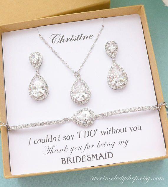 Bridesmaid Jewelry Set Bridesmaid Earrings Bridesmaid Etsy In 2020 Wedding Bridesmaid Jewelry Bridesmaid Earrings Set Bridesmaid Jewelry