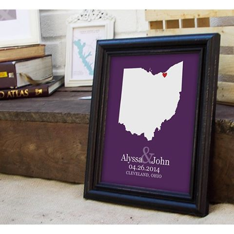 personalized state map prints make for a custom wedding gift any couple will love