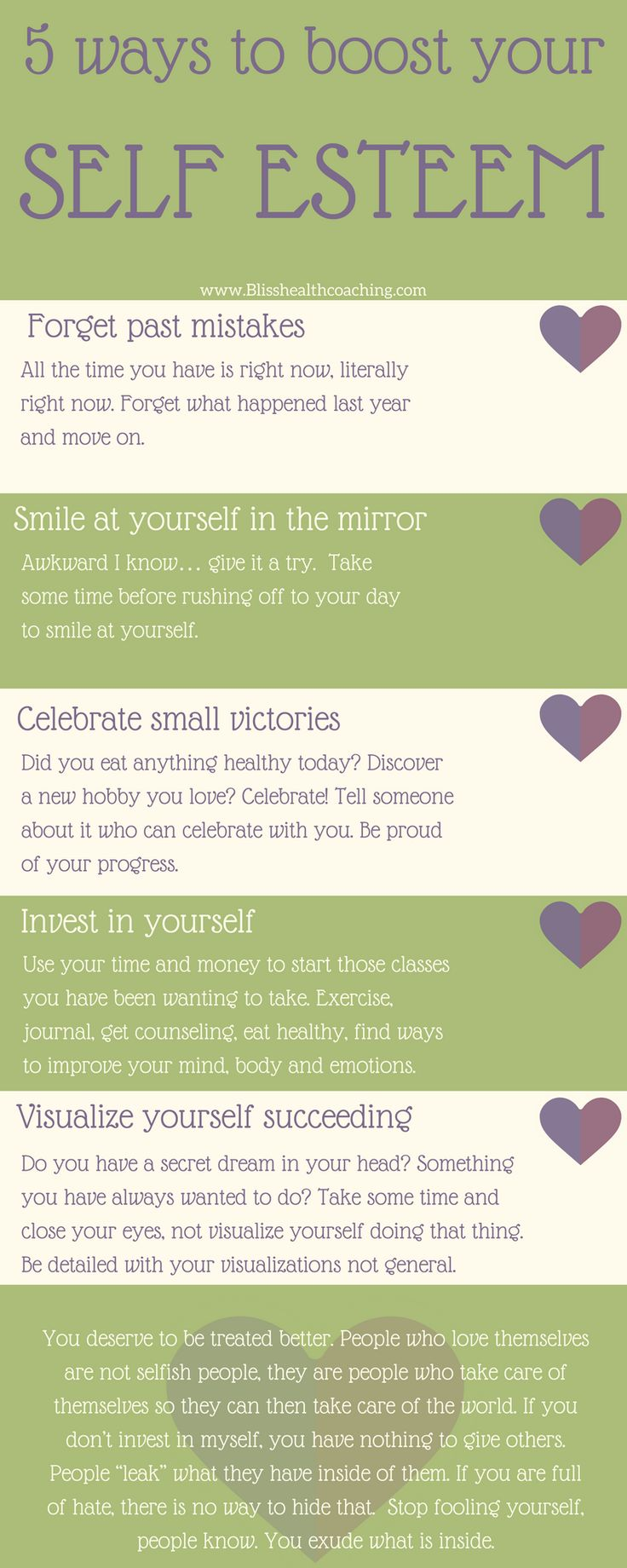 Learning to love yourself is the first step in getting healthy!