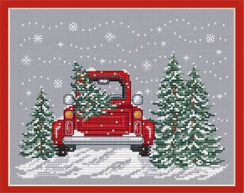 Sue Hillis Bringing Home the Tree - Cross Stitch Pattern.