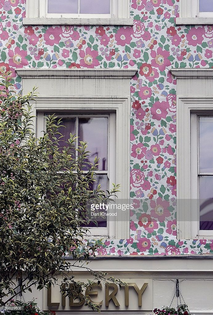 Liberty's department store gets a wallpaper makeover on August 6, 2009 in London, England. The wallpaper is part of the new Prints Charming exhibition celebrating Liberty's famous printed fabric. The store is one of the oldest department stores in the world opening in 1875.