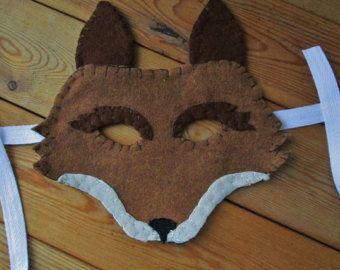 Wolf / Coyote Felt Mask, Realistic Animal Costume Mask