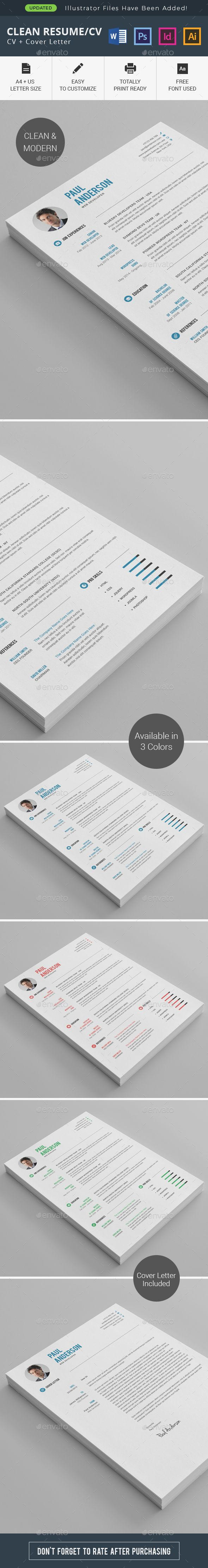 Clean #Resume/CV - Resumes #Stationery
