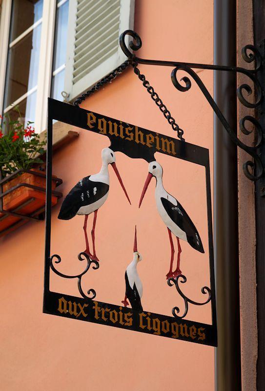 *Enseigne, Aux trois cigognes, Eguisheim*