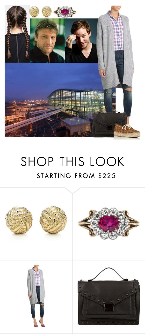 """saying goodbye to her father who returns to USA and flying with Aaron for their weekend vacation to Greece"" by madame-des-etats ❤ liked on Polyvore featuring Tiffany & Co. and Loeffler Randall"