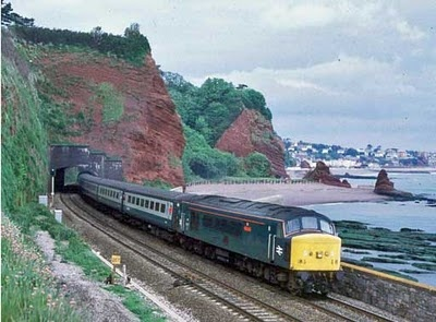 Dawlish-Teignmouth sea wall - I've been up & down that train track so many times...
