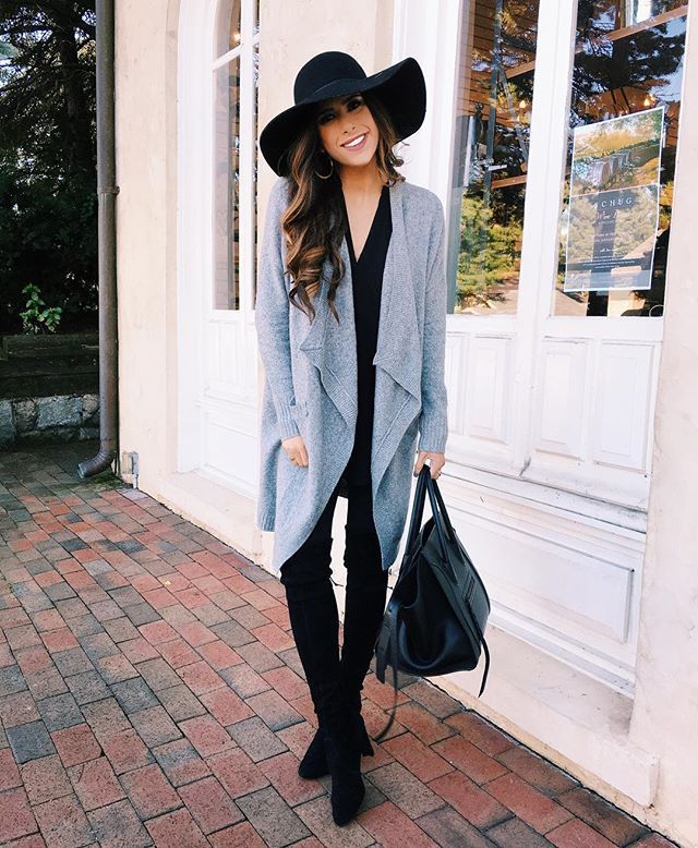 I could live in this outfit.. All black with a comfy cardigan! Not to mention a floppy hat so I can go another day w/o washing my hair! All details: http://liketk.it/2piHe #liketkit #wiw #whatiwore #fall #fallfashion #ootd #outfitoftheday #instablogger #casual #sunday