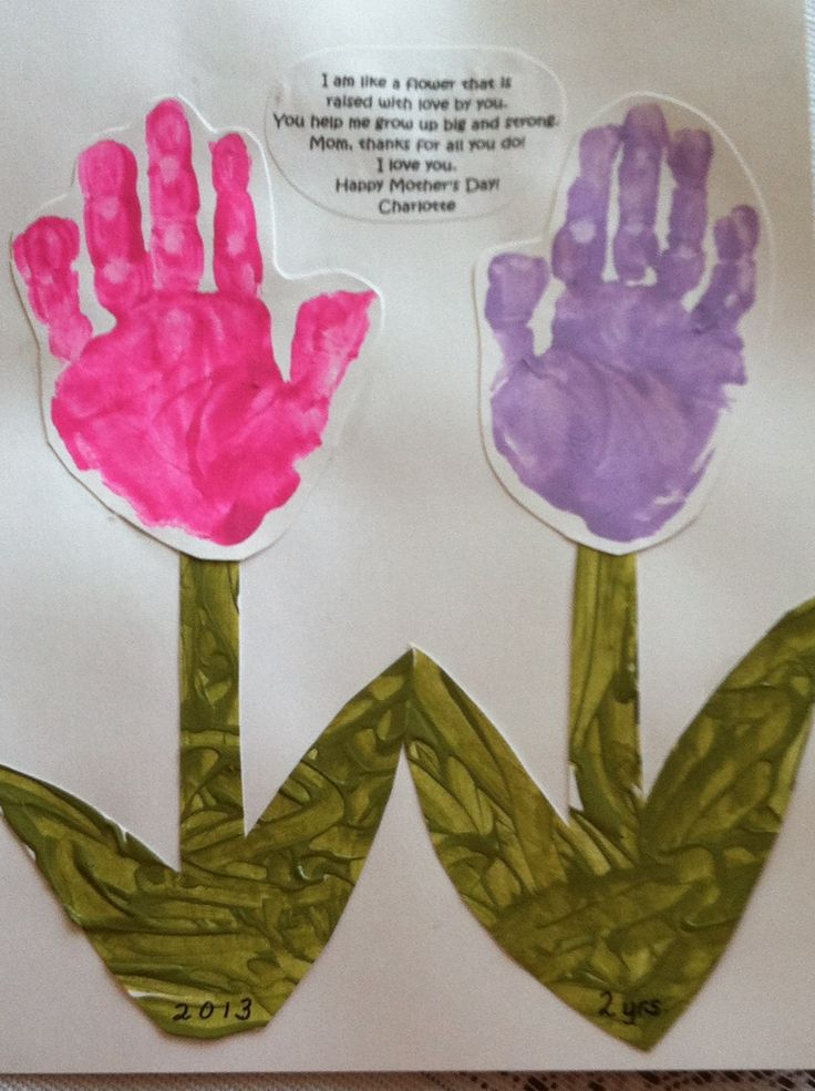 Mother S Day Handprint Flowers Hand Print Poems