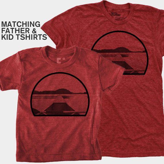 SALE Canoe Dad Son Matching Shirts  Fishing Gift  by mediumcontrol