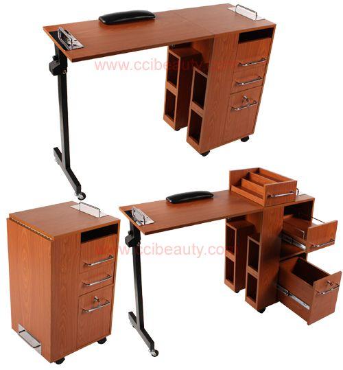 Stylish Manicure Tables (Walnut)