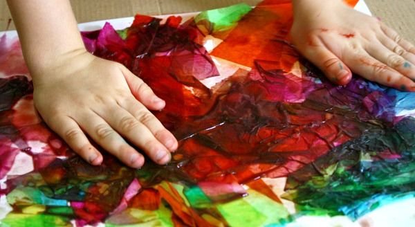 Bleeding Tissue Art~Process-based art for kids