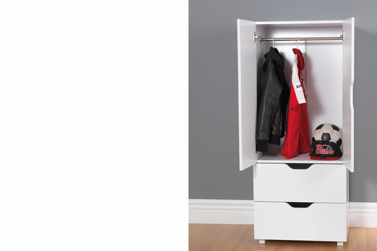 White Flatpax Kids wardrobe. #kidsfurniture #kidswardrobe